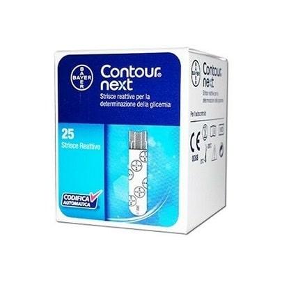 contour next glicemia 25 strisce