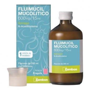 fluimucil mucolitico sciroppo 200 ml 600 mg/15 ml
