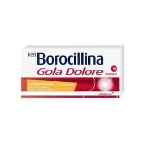 neo borocillina gola dolore 16 pastiglie limone e miele senza zucchero
