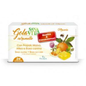 sanavita gola 24 caramelle arancia