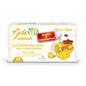 sanavita gola 24 caramelle limone e miele
